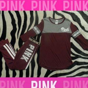 Victorias Secret PINK Burgandy Outfit Bundle
